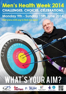 Poster for Men's Health Week 2014 in Ireland